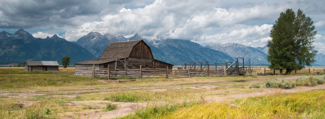 Old barn at Grand Teton National Park