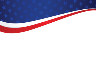 Patriotic american holiday abstract background Wall mural