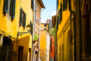 PISA, ITALY - July 24, 2016. street view of Old Town Pisa Tuscan