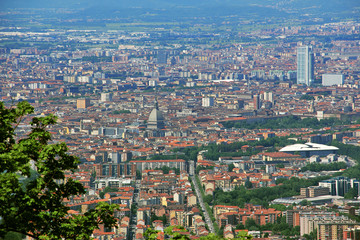 View of the city of Turin from Superga, Turin, Italy