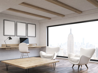 Home office in New York City apartment