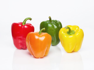 Bell Peppers, Red, Green, Orange, Yellow.... Set of 4 bell peppers