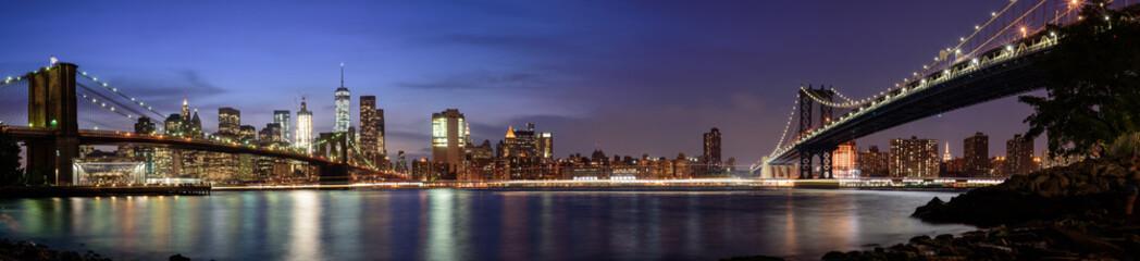 Manhattan cityscape from Brooklyn, New York City