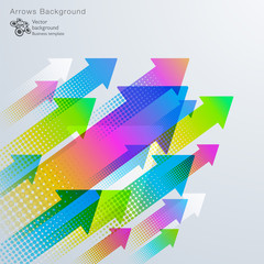 Colorful Arrow Graphic  #Vector Background