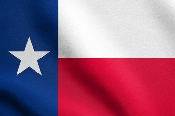 Flag of Texas waving with fabric texture