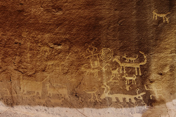 Una Vida Petroglyphs, Chaco Culture National Historic Park, New Mexico