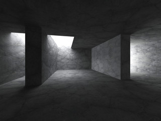 Dark empty concrete room interior background