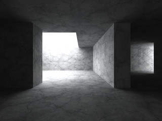 Architecture abstract background. Concrete empty room interior