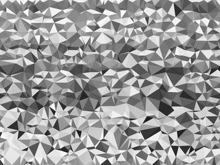 Gray triangle mosaic abstract background