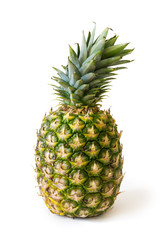 big green pineapple isolated on white background