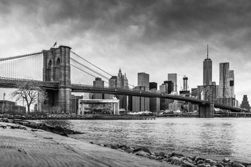 Photo sur cadre textile Bestsellers Brooklyn Bridge