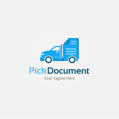 Pick Document Logo Vector Template