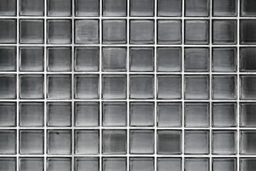 Glass block wall facade, Bangkok, Thailand