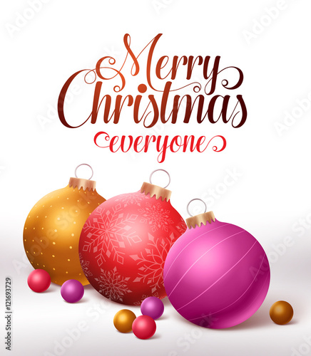 Colorful Christmas Background Design.Merry Christmas Greetings Card Design With Colorful
