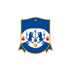 Soccer Football Club Academy Logo Vector Image Icon