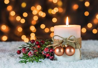 Weihnachten Dunkel Kerzenlicht Advent Hintergrund Lichter