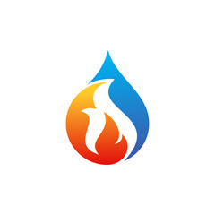 Water Fire Restoration Logo Vector Image Icon