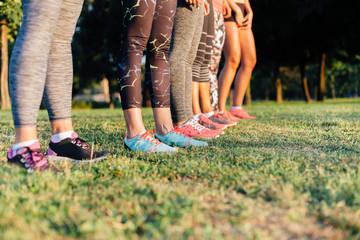 Closeup of women legs