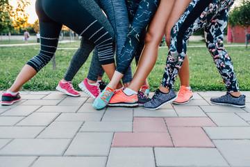 Group of female legs