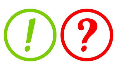 Frage und Antwort Button in grün und rot