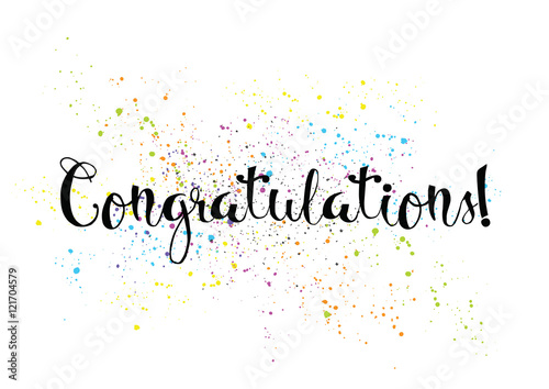 Quot congratulations inscription greeting card with