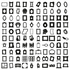 Set of Hundred Frames. Beautiful Vector in High Resolution.