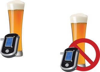 tasso di concentrazione di alcol con un bicchiere di birra