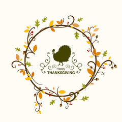 Vector Illustration of a Thanksgiving Background Design
