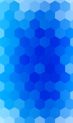hexagons on a blue background. geometric banner with gradient. vector