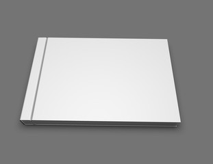 Photo book album blank hardcover landscape orientation mock up.