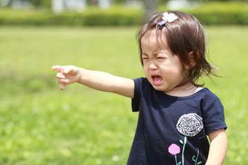 幼児(1歳児)の泣き顔