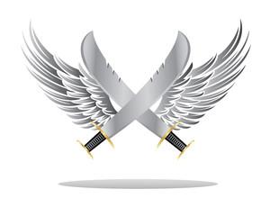 wings sword illustration