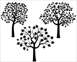 Black Vector Tree Silhouettes
