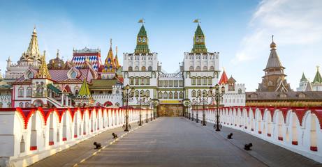 Panorama of Izmailovsky Kremlin in Moscow, Russia
