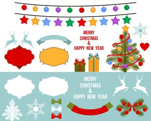 Christmas Vector Decoration Elements