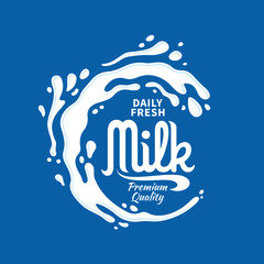 Milk logo template. Milk, yogurt or cream splash