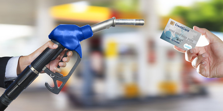 Gas pump for refueling car
