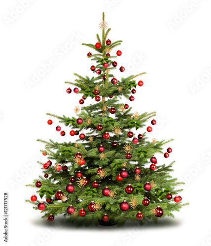 traditionell geschm ckter weihnachtsbaum stock photo and
