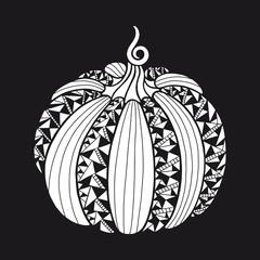 Pumpkin in flat style