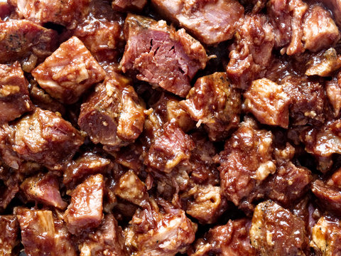rustic american barbecued pork food background