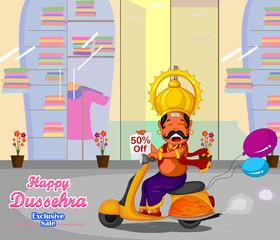 Ravana wishing Happy Dussehra offer