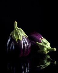 eggplant on a dark background