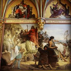 Drachenburg - Wandgemälde