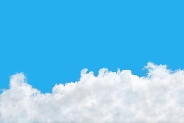 beautiful white cloud on blue sky