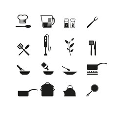 Cooking icons set.