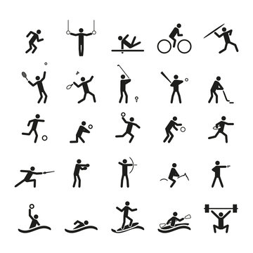 Sport icons set. Vector illustration.