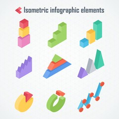 isometric elements of infographics