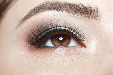 beautiful brown woman's eye