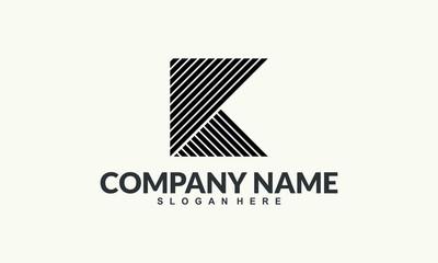 K initial Abstrack Logo Illustration