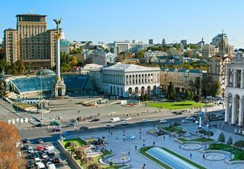 Foto op Aluminium Kiev Maidan Nezalezhnosti. Kiev , Ukraine
